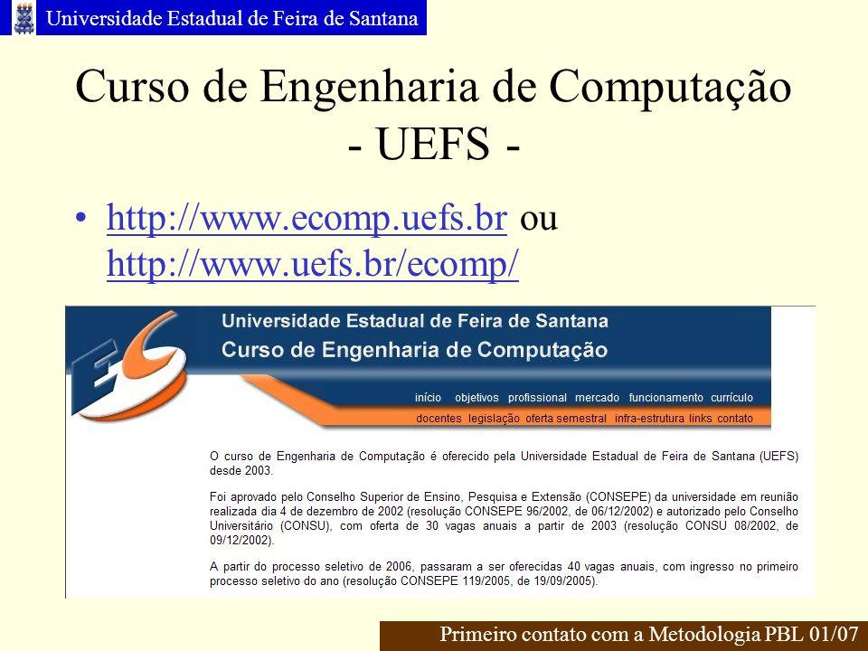 Curso de Engenharia de Computação - UEFS -