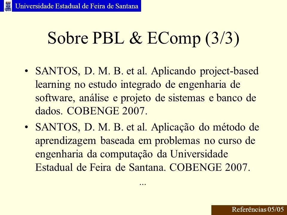 Sobre PBL & EComp (3/3)