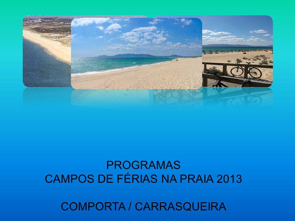 CAMPOS DE FÉRIAS NA PRAIA 2013 COMPORTA / CARRASQUEIRA