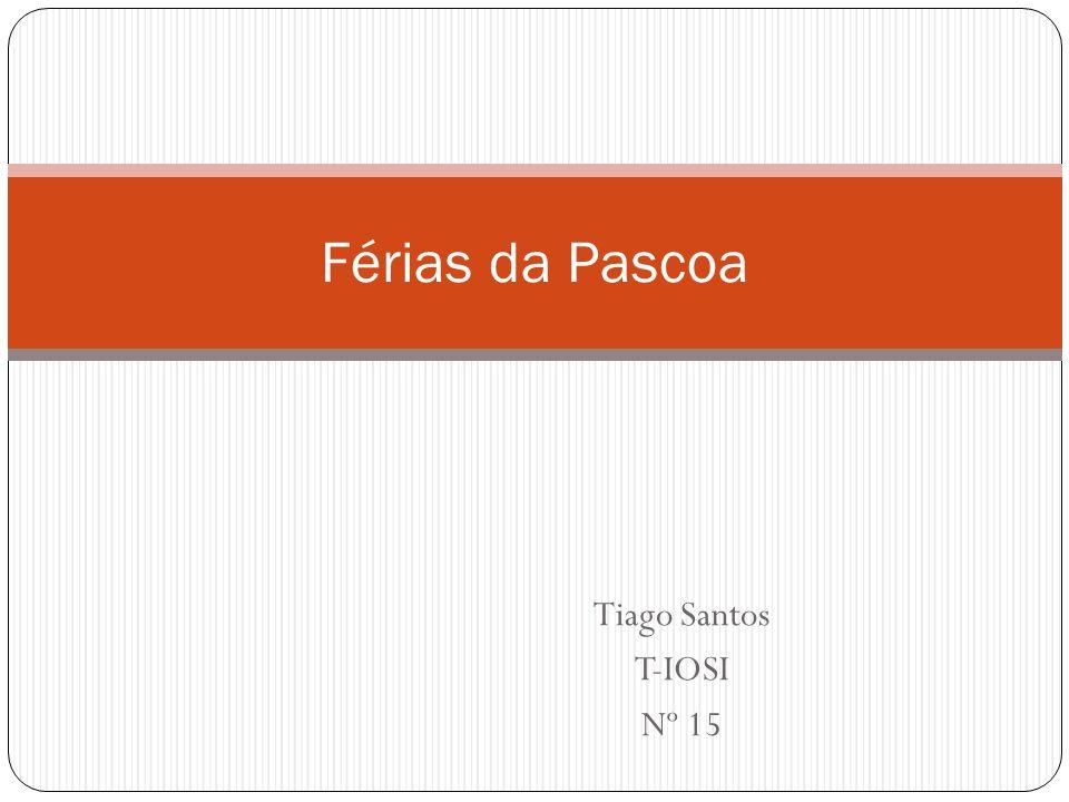 Férias da Pascoa Tiago Santos T-IOSI Nº 15