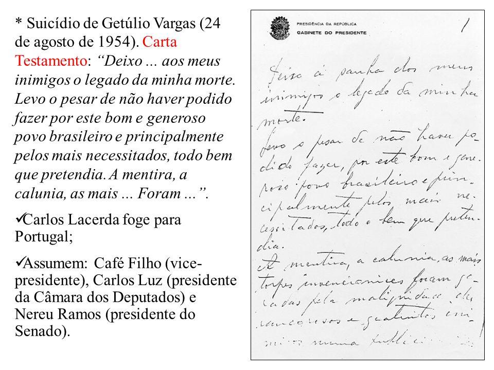 Suicídio de Getúlio Vargas (24 de agosto de 1954)
