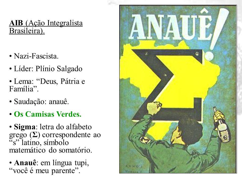 AIB (Ação Integralista Brasileira).