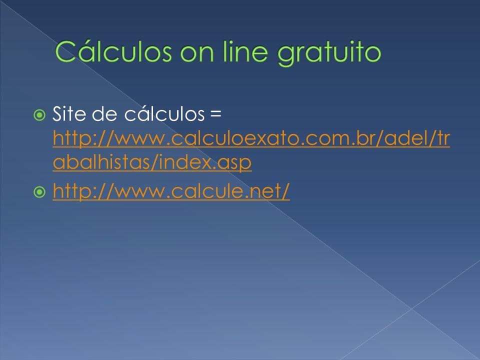 Cálculos on line gratuito
