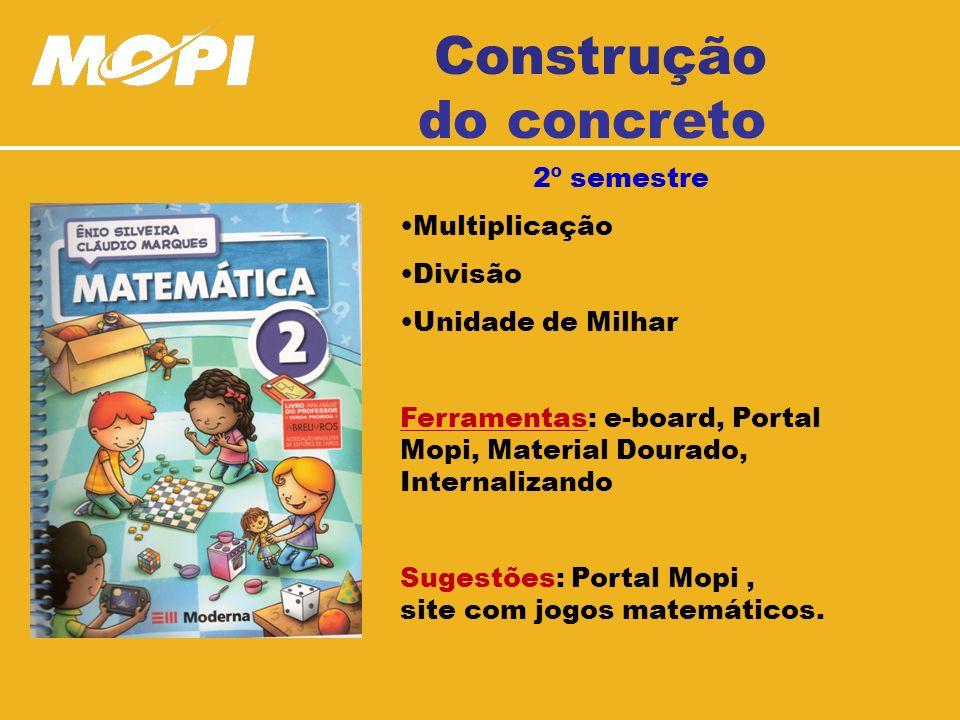 Construção do concreto 2º semestre Multiplicação Divisão