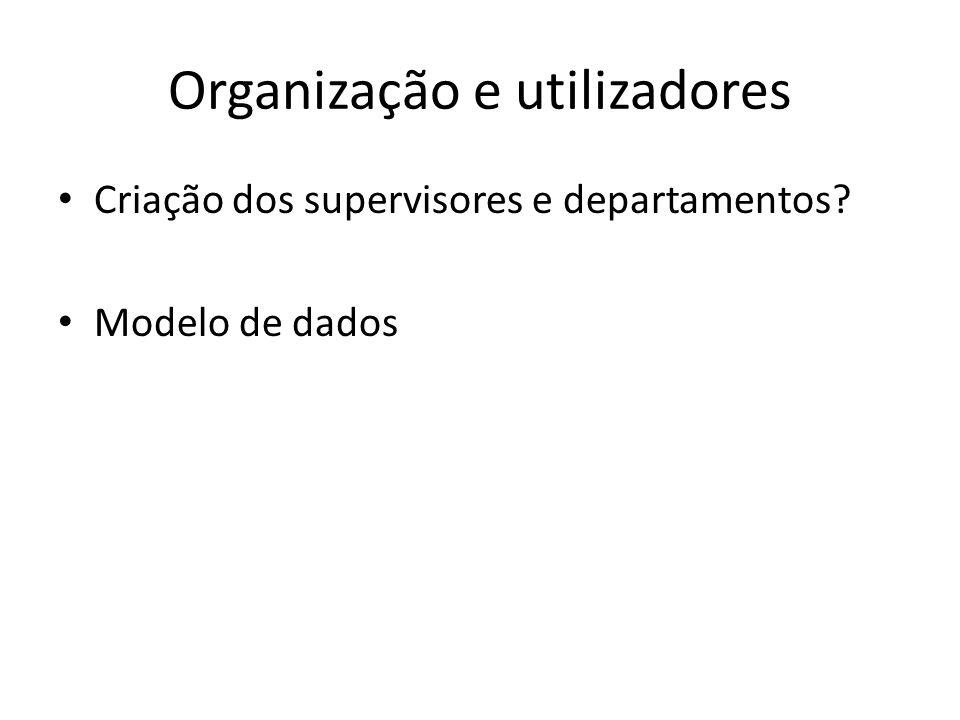 Organização e utilizadores