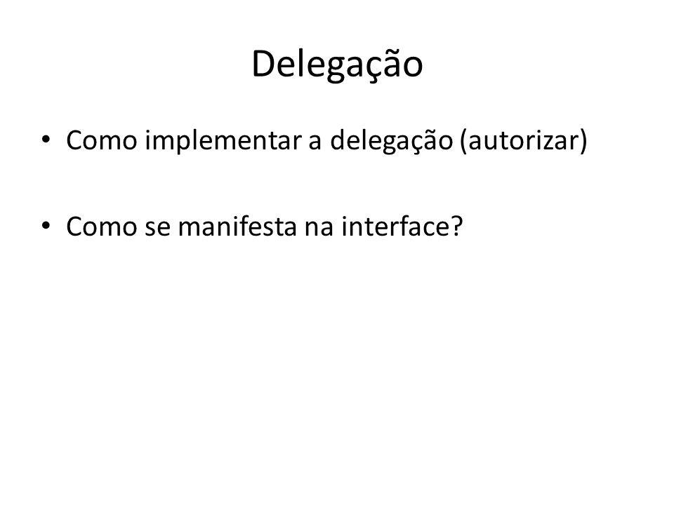 Delegação Como implementar a delegação (autorizar)