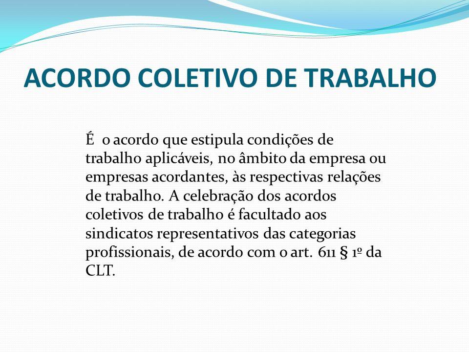 ACORDO COLETIVO DE TRABALHO