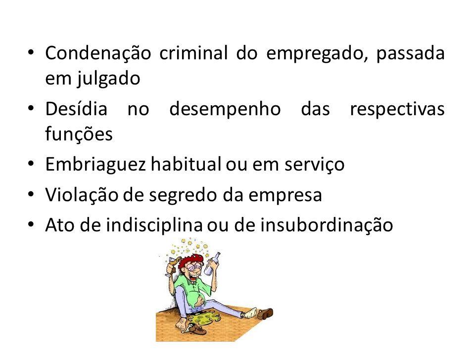 Condenação criminal do empregado, passada em julgado