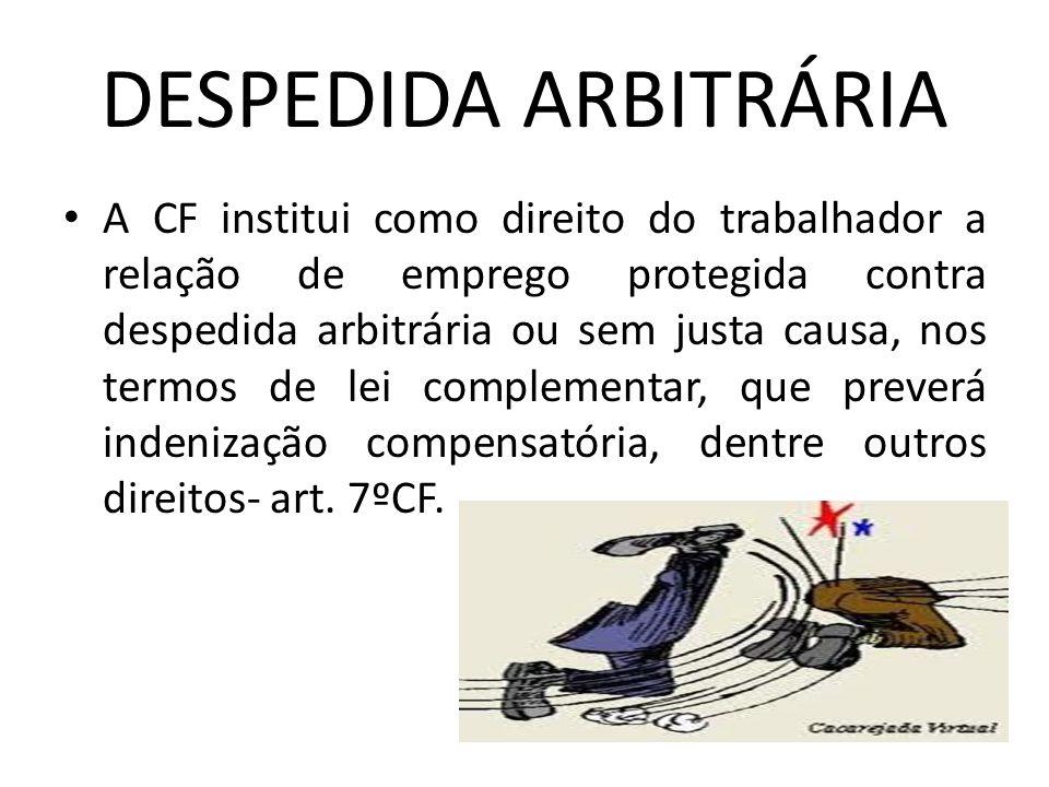 DESPEDIDA ARBITRÁRIA
