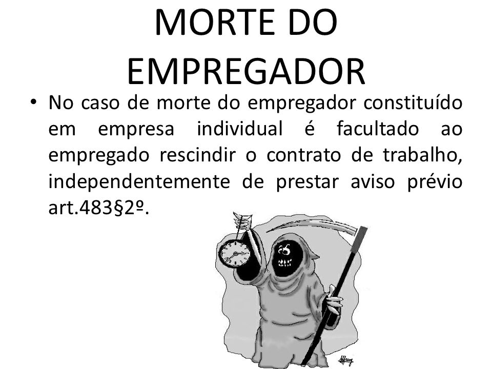 MORTE DO EMPREGADOR