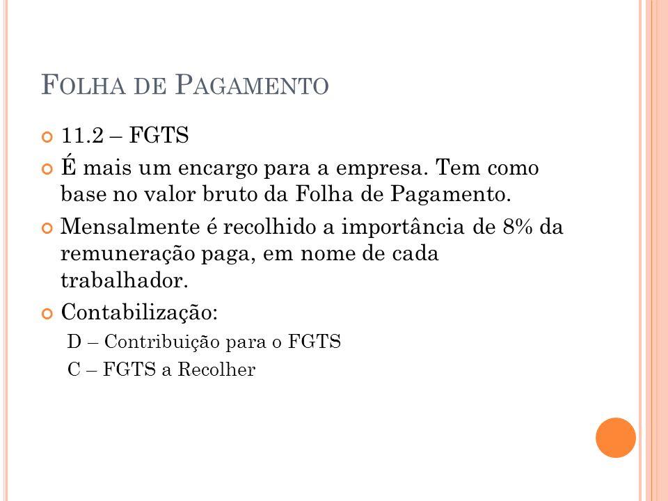 Folha de Pagamento 11.2 – FGTS