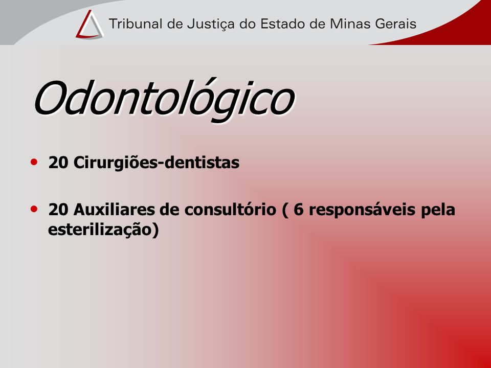 Odontológico 20 Cirurgiões-dentistas