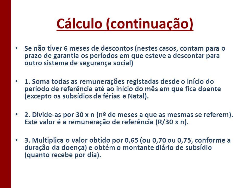 Cálculo (continuação)