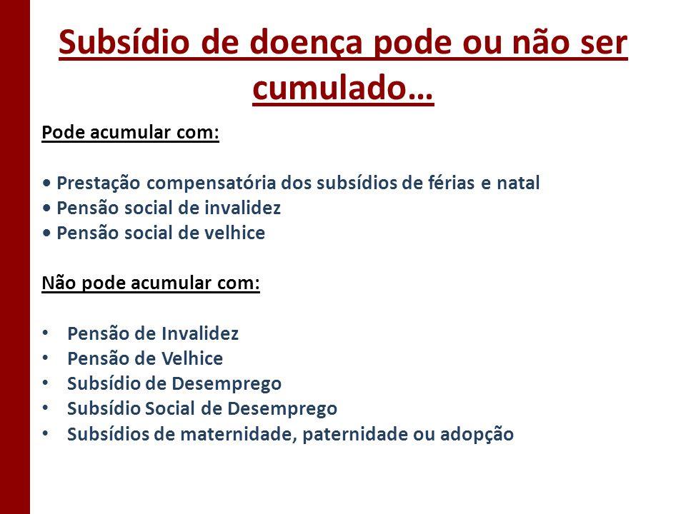 Subsídio de doença pode ou não ser cumulado…