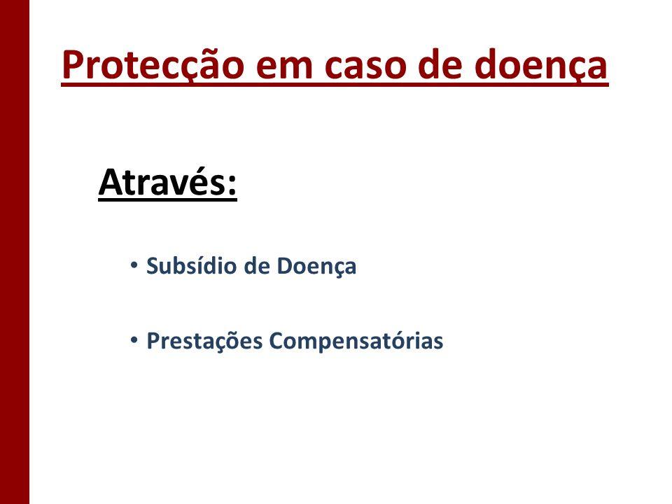 Protecção em caso de doença