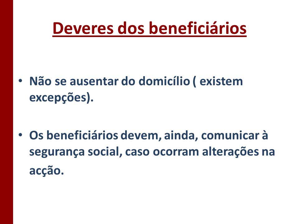 Deveres dos beneficiários