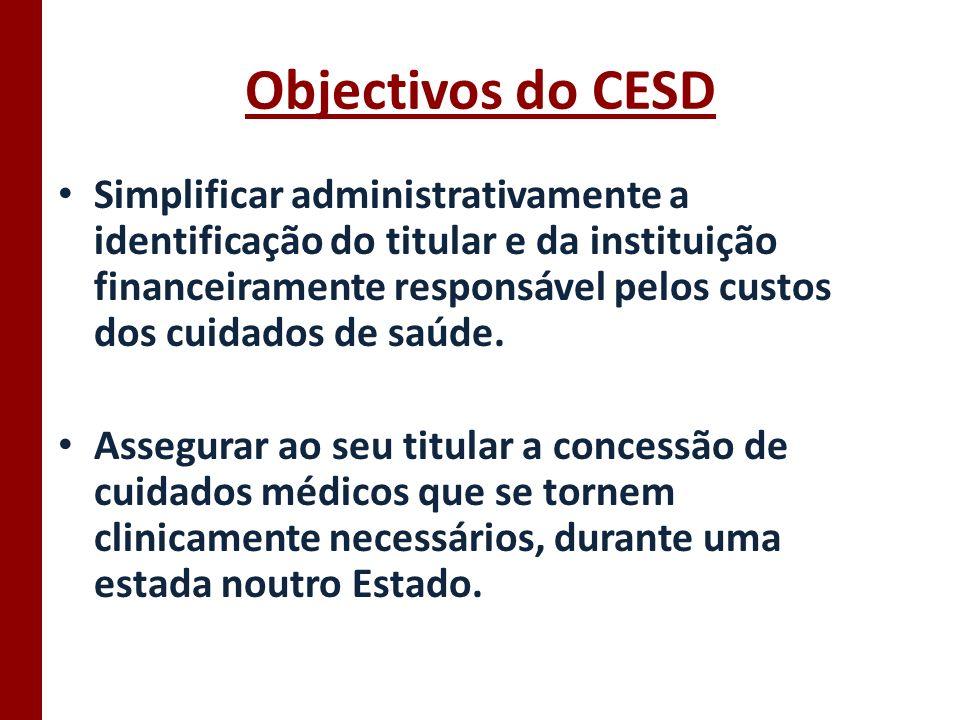 Objectivos do CESD