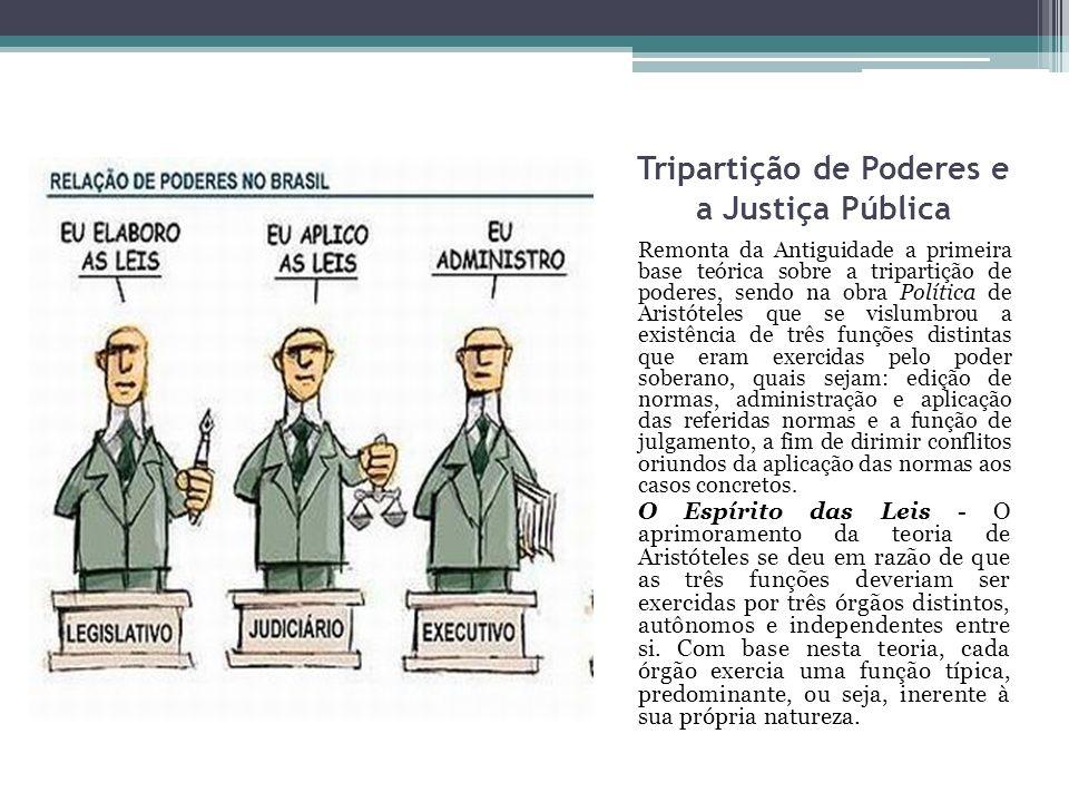 Tripartição de Poderes e a Justiça Pública