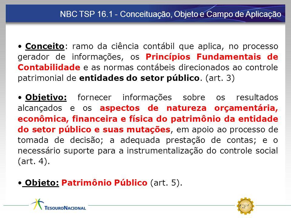 NBC TSP 16.1 - Conceituação, Objeto e Campo de Aplicação