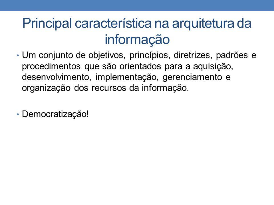 Principal característica na arquitetura da informação