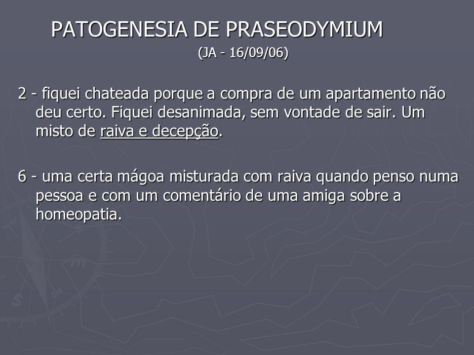 PATOGENESIA DE PRASEODYMIUM