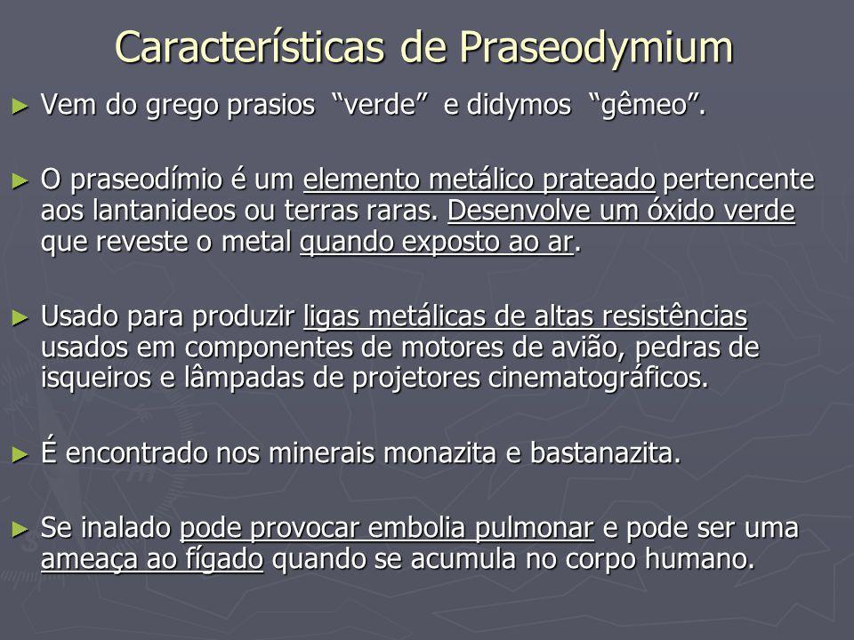 Características de Praseodymium