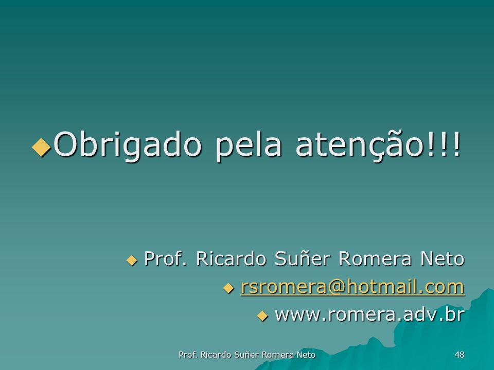 Prof. Ricardo Suñer Romera Neto