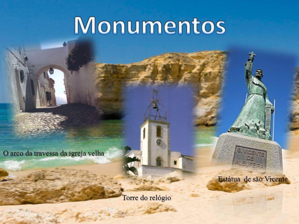 Monumentos O arco da travessa da igreja velha Estátua de são Vicente