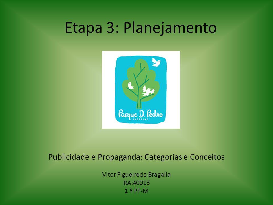 Etapa 3: Planejamento Publicidade e Propaganda: Categorias e Conceitos