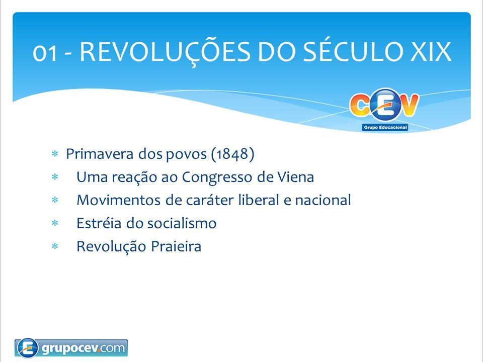 01 - REVOLUÇÕES DO SÉCULO XIX