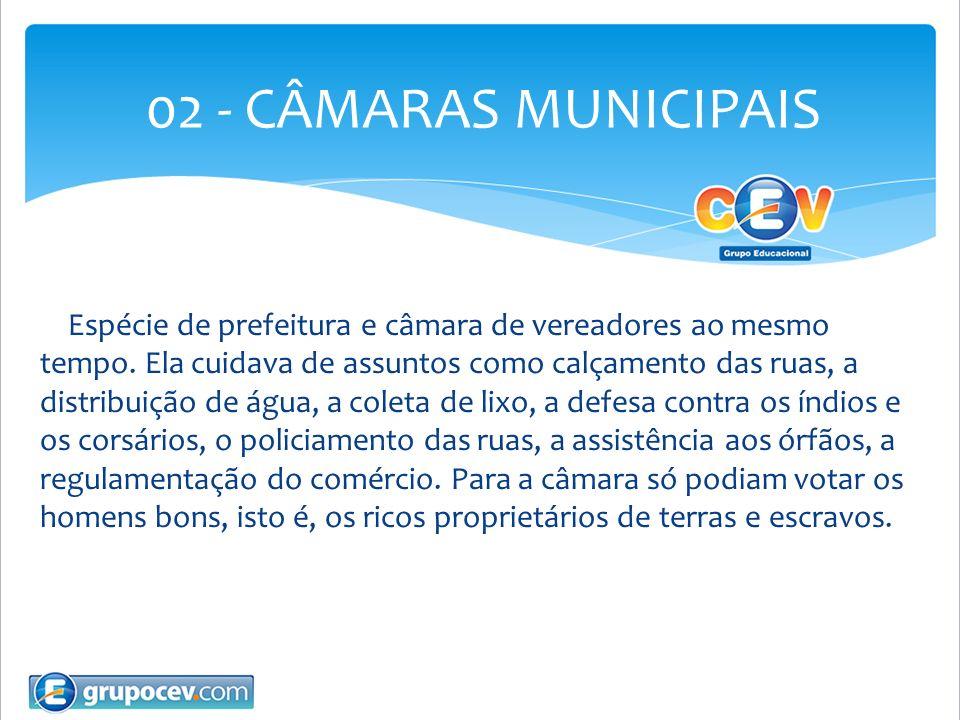 02 - CÂMARAS MUNICIPAIS