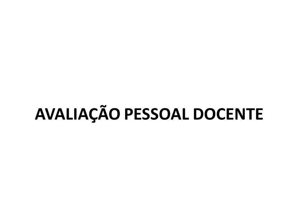 AVALIAÇÃO PESSOAL DOCENTE