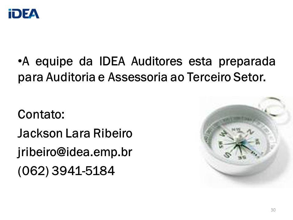 A equipe da IDEA Auditores esta preparada para Auditoria e Assessoria ao Terceiro Setor.