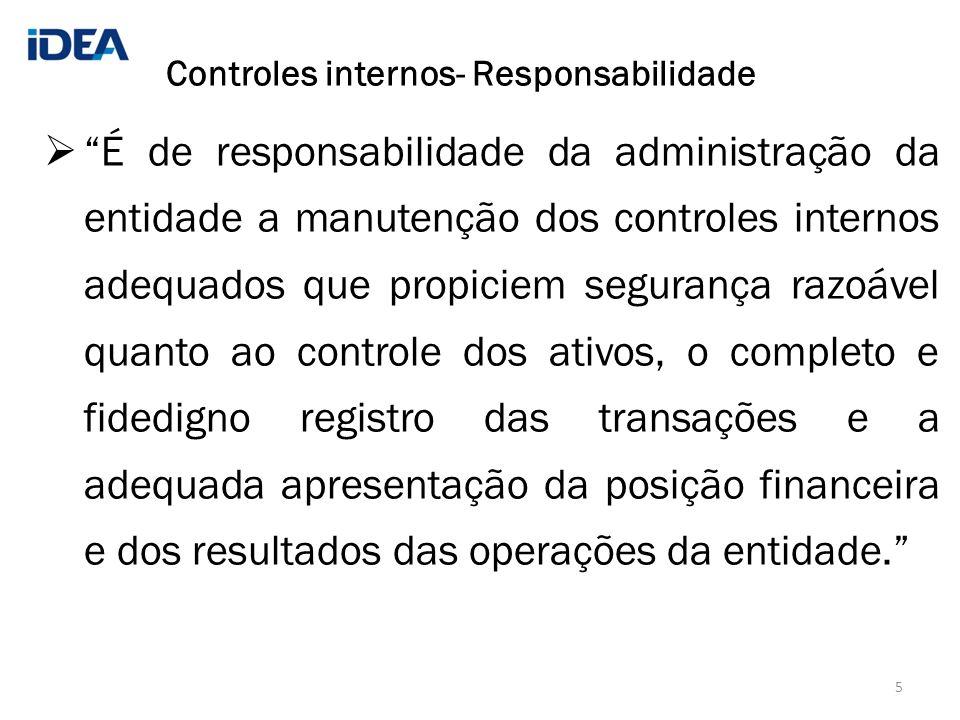 Controles internos- Responsabilidade