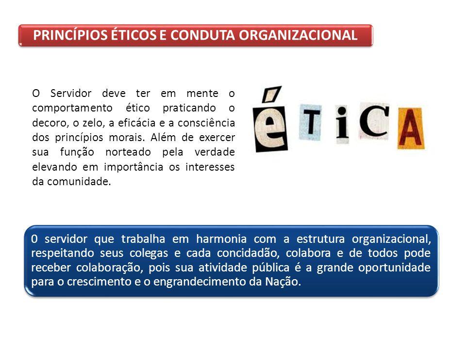 PRINCÍPIOS ÉTICOS E CONDUTA ORGANIZACIONAL