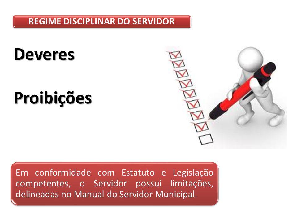 REGIME DISCIPLINAR DO SERVIDOR