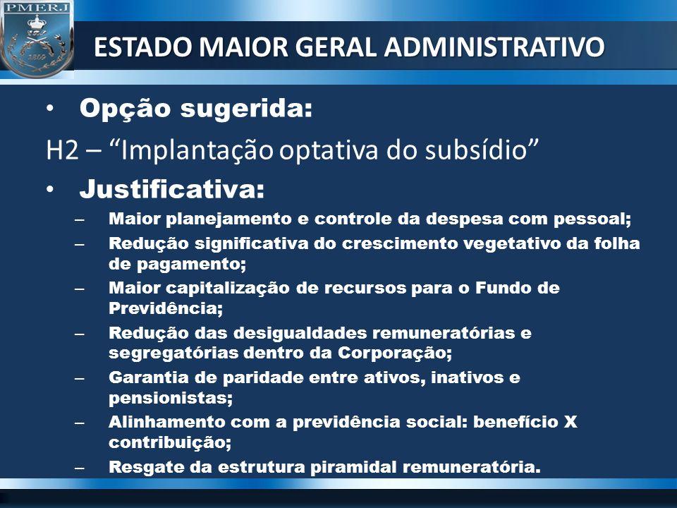 ESTADO MAIOR GERAL ADMINISTRATIVO