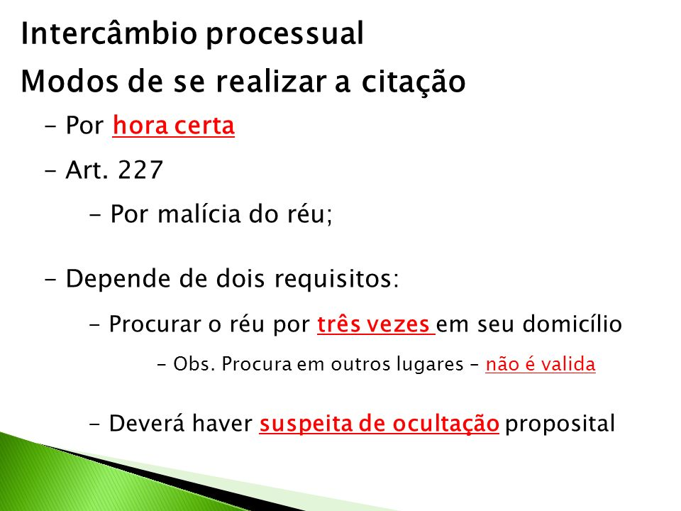Intercâmbio processual