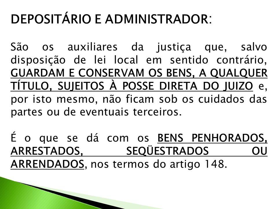 DEPOSITÁRIO E ADMINISTRADOR: