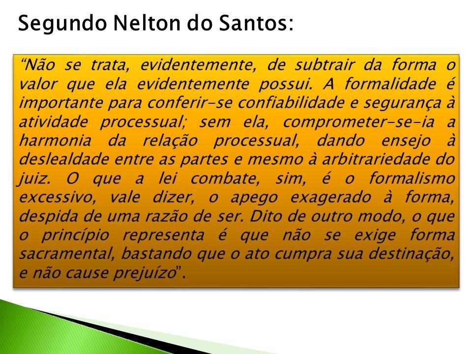 Segundo Nelton do Santos: