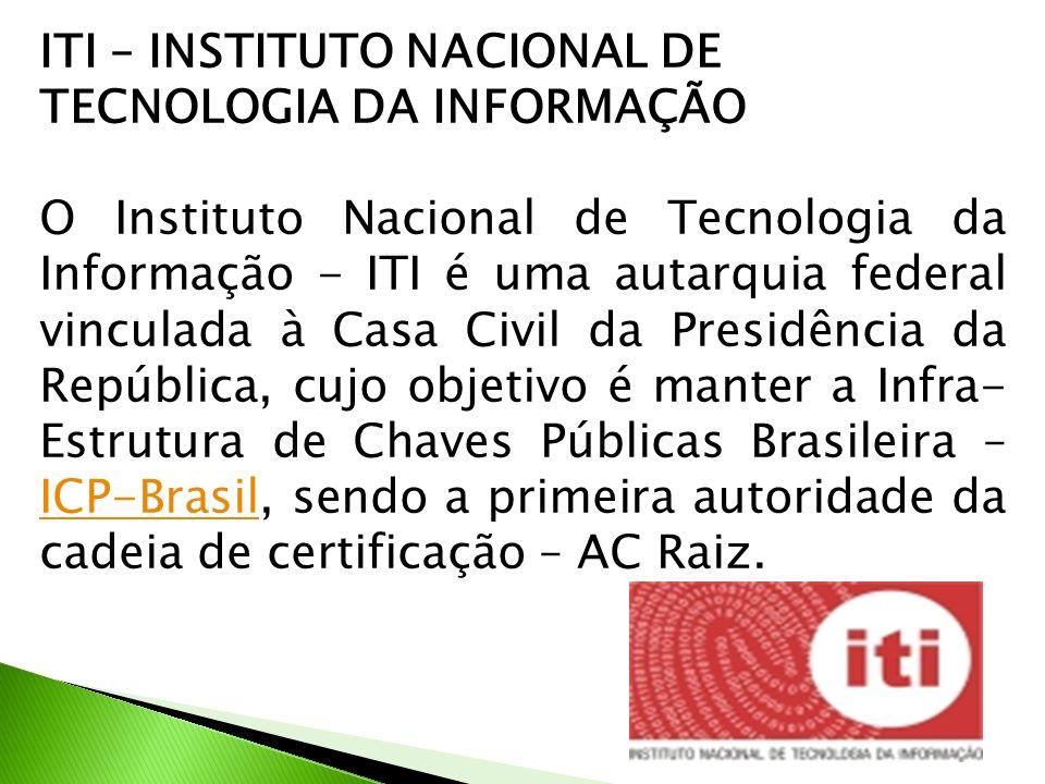 ITI – INSTITUTO NACIONAL DE TECNOLOGIA DA INFORMAÇÃO