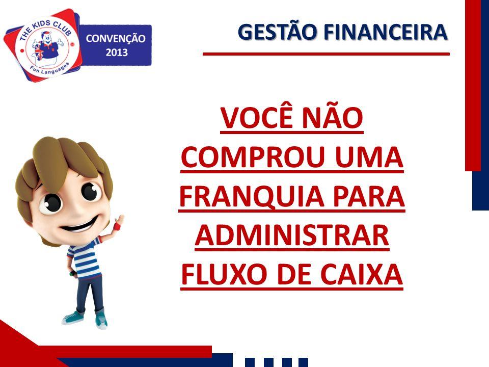 VOCÊ NÃO COMPROU UMA FRANQUIA PARA ADMINISTRAR FLUXO DE CAIXA