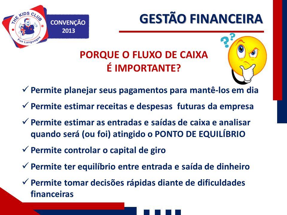 GESTÃO FINANCEIRA PORQUE O FLUXO DE CAIXA É IMPORTANTE