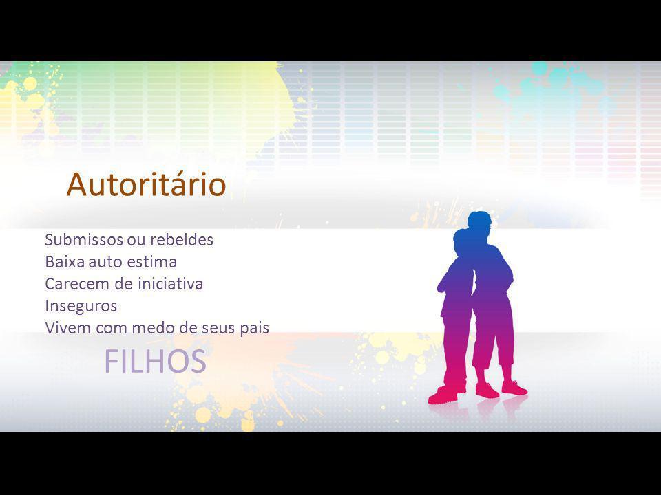 Autoritário FILHOS Submissos ou rebeldes Baixa auto estima