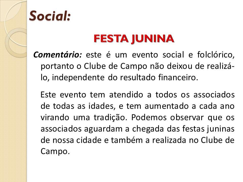 Social: FESTA JUNINA.