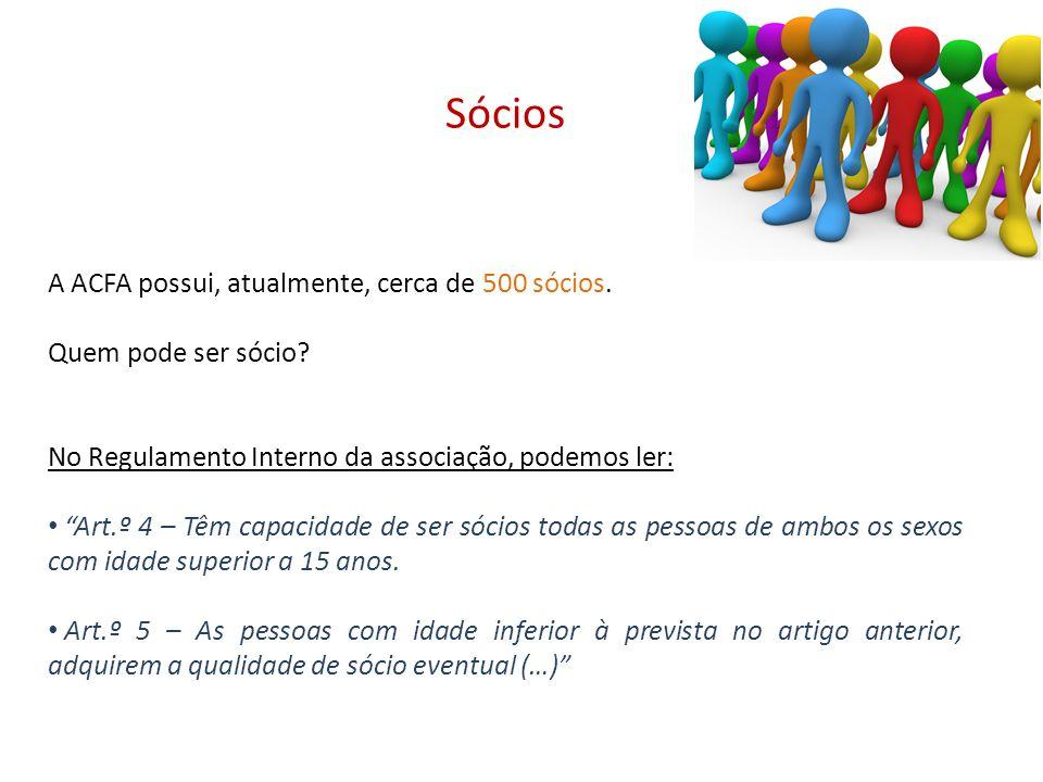 Sócios A ACFA possui, atualmente, cerca de 500 sócios.
