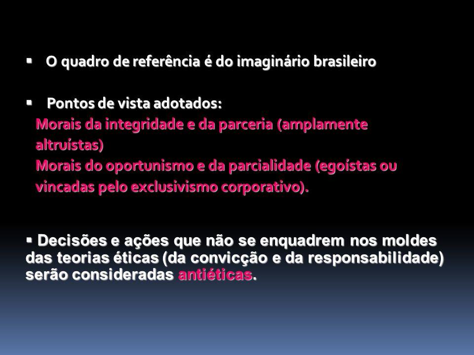O quadro de referência é do imaginário brasileiro