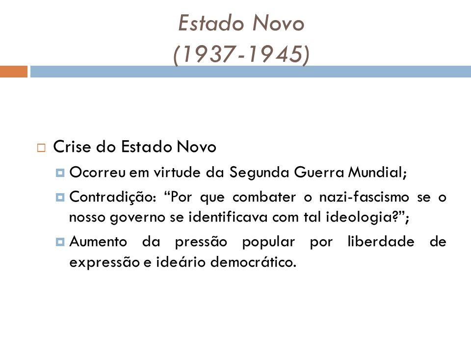 Estado Novo (1937-1945) Crise do Estado Novo