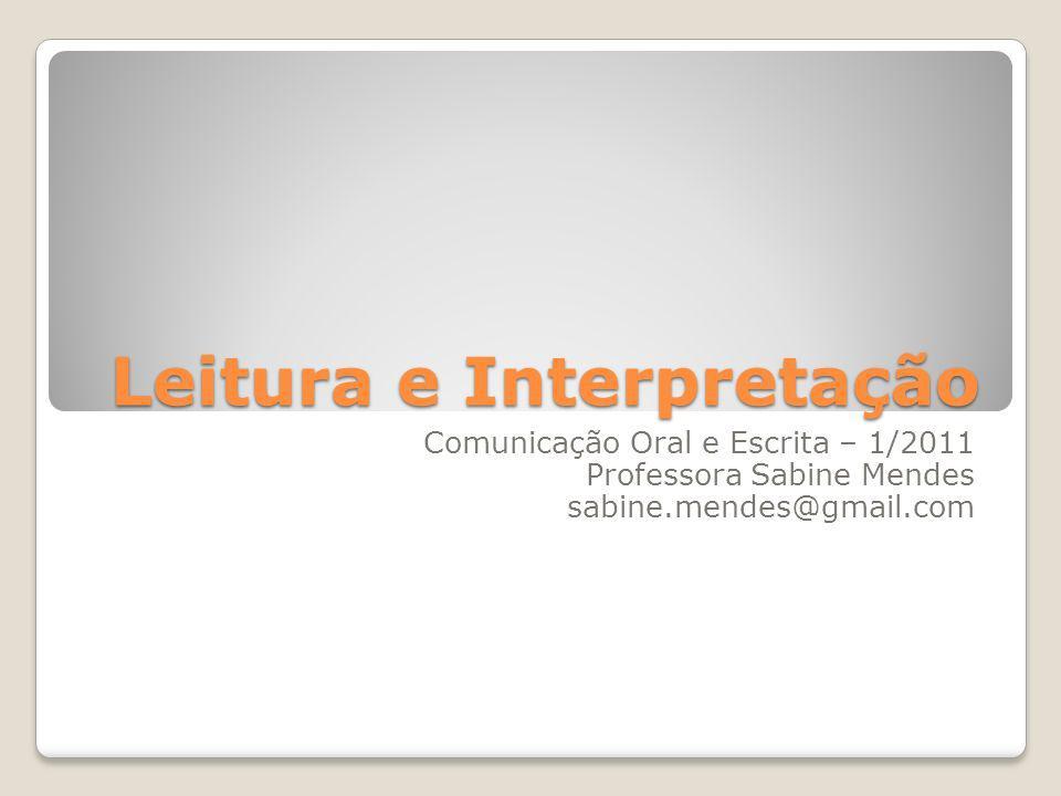 Leitura e Interpretação