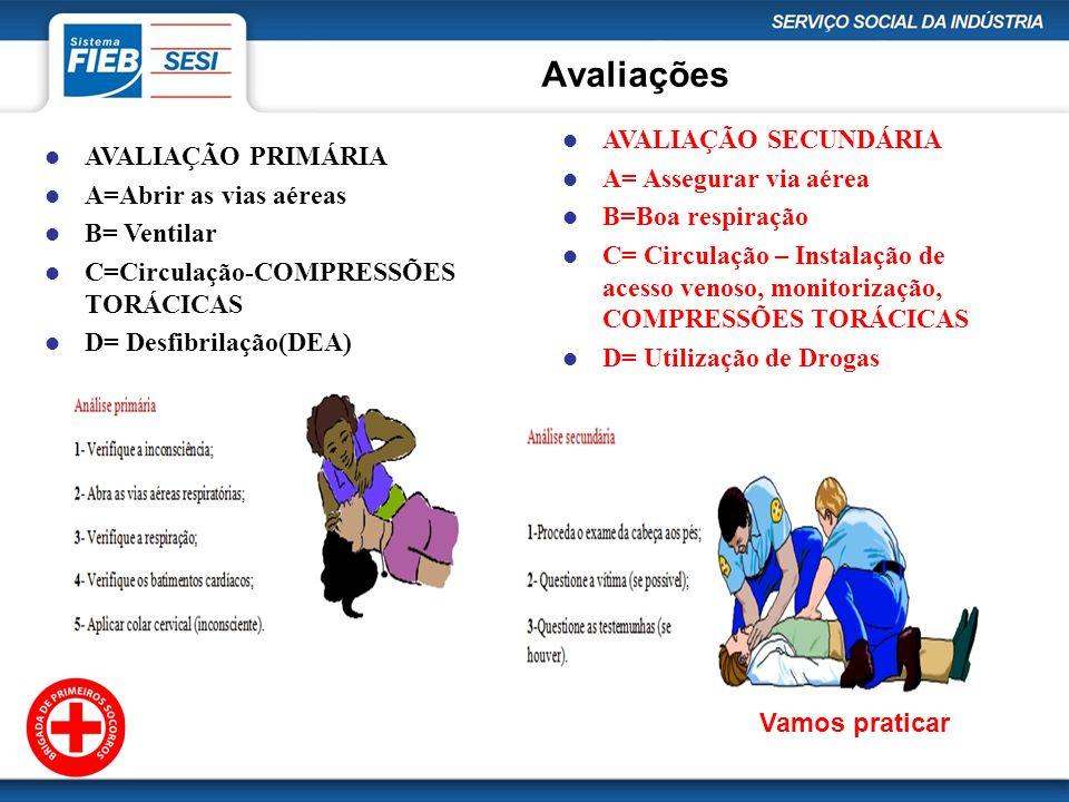 Avaliações AVALIAÇÃO SECUNDÁRIA AVALIAÇÃO PRIMÁRIA